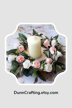 Simple pink and white roses, and the pretty pink and green variegated greenery circling the wood slice make the ideal setting for a rustic, country chic wedding. Add a lantern, or candle or even beautiful glasses in the centre to suit your own unique style.  Make it yours! #blushwedding #weddingdecor #tablecentre #springwedding #summerwedding