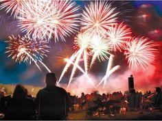 New Year's Eve Fireworks on the Beach on Tybee Island, #Georgia
