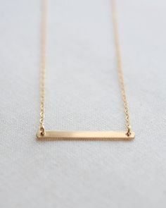 Horizontal Bar Necklace by Olive Yew. Perfect for layering in lengths 16 - 21 inches. Choose from silver, gold and rose gold.
