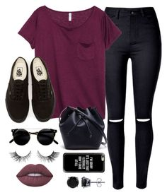 """Untitled #657"" by thefashionsense101 ❤ liked on Polyvore featuring WithChic, H&M, Vans, Lacoste, Casetify, BERRICLE and Lime Crime"