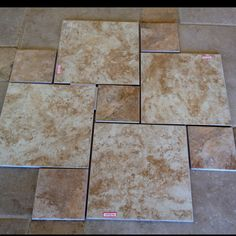 Great Tile Floor Design For Bathrooms. Use Two Sizes And Save Money By  Using Small