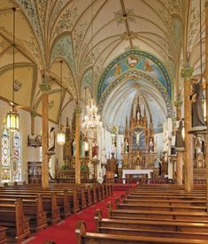 Mary Catholic Church in High Hill, TX—the queen of Central Texas' painted churches by Rick Patrick Old Churches, Catholic Churches, Take Me To Church, Church Interior, Central Texas, Cathedral Church, Church Architecture, Place Of Worship, Beautiful Buildings
