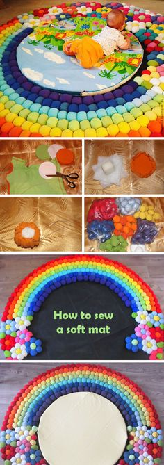 How to sew a soft mat from old T-shirts   http://www.free-tutorial.net/2017/04/how-to-sew-soft-mat-from-old-t-shirts.html