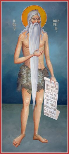 Life of Saint Onouphrios the Anchorite of Egypt Byzantine Art, Byzantine Icons, Religious Images, Religious Art, Early Christian, Christian Art, Religious Paintings, Best Icons, Jesus Pictures