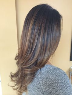 Warm brown fading into caramel. #sombre #balayage