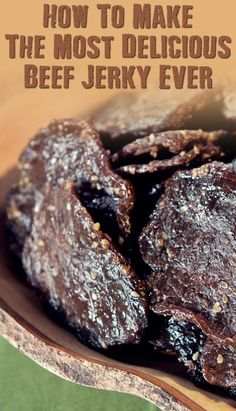 Make The Best Beef Jerky Ever - SHTFPreparedness - How To Make The Most Delicious Beef Jerky Ever – If SHTF, I won't be eating the expensive store - Beef Jerky Marinade, Smoked Beef Jerky, Beef Jerkey, Beef Jerky Dehydrator, Beef Jerky Seasoning, Beef Jerky In Smoker, Food Dehydrator, Beef Steak, Jerkey Recipes