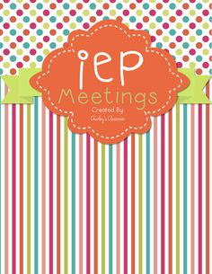 """""""Special education teachers, as well as regular education teachers, can have quite the caseload of special education students. Hopefully, my IEP Meetings Binder will take away some of the stress for planning an upcoming IEP meeting for you as it has for me! I use this product at the beginning of every year and can say I have successfully stayed organized and on top of all of my IEP meetings!"""""""