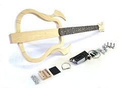"""E-Gitarren-Bausatz/Guitar DIY Kit ML """"Silent"""", Piezo Tonabnehmer mit 4 Band EQ"""