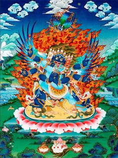 "Képtalálat a következőre: ""Vajrakilaya"" Buddha Buddhism, Tibetan Buddhism, Buddhist Art, Thangka Painting, Buddha Painting, Vajrayana Buddhism, Tibetan Art, Tantra, Gods And Goddesses"