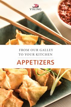 Travel the world in your kitchen with party-worthy appetizers from your favorite Viking destinations. Impress your guests with small-dish recipes such as shrimp and crab wontons, Russian blinis, tzatziki dip and more! Crab Wontons, Viking Food, Viking River, National Dish, Tzatziki, Other Recipes, Food Dishes, Vikings, Dip