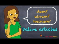 Learn German | Artikel im Dativ | Dative Case | German for beginners | A1 - Lesson 32 - YouTube