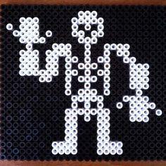 Hama Bead Skeleton  from BeadMerrily.