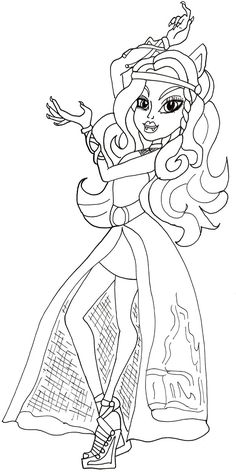 Free Printable Monster High Coloring Pages: Clawdeen Haunt the Casbah Coloring Page