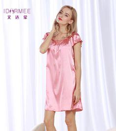 IDARMEE S1031 Lace Women Nightgowns Summer Night Dress Ladies Sleep Lounge Homewear Dressing Gown Sleepwear Nightdress For Women #Affiliate