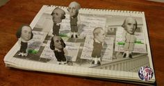 This wonderfully creative lesson has students creating pop up figures of 6 Founding Fathers to learn about those who helped create America's Constitution at the Constitutional Convention.
