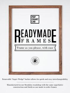 Pop Chart Lab --> Design + Data = Delight --> Readymade Frame for 18 x 24 Art