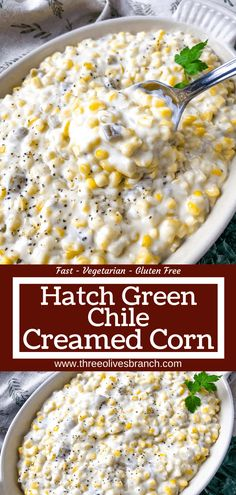 Hatch Green Chili Recipe, Green Chili Recipes, Mexican Food Recipes, Hatch Chili, Corn Dishes, Veggie Dishes, Vegetable Recipes, Quesadillas, Enchiladas