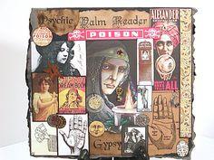 Greeting Card, Gypsy Fortune Teller, Handmade Card, Collage Card, Gypsy, Card, Gypsy Greeting Card, Fortune Teller Card, Ouija, Primitive