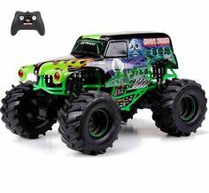 Full-Function RC Radio Control 9.6V Monster Truck Jam Grave Digger Toy Car  #NewBright