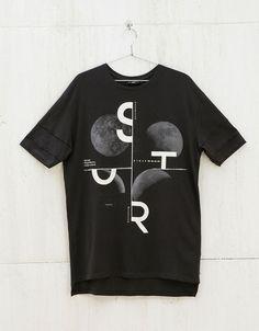 Text and print top - T-shirts - Bershka United Kingdom: