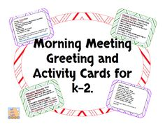 Free morning meeting planning poster to record daily greeting morning meeting greeting and activities freebie m4hsunfo Choice Image