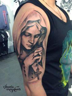 Jesus Tattoo Design, Angel Tattoo Designs, Tattoo Sleeve Designs, Cute Foot Tattoos, Badass Tattoos, Arm Tattoos For Guys, Mens Body Tattoos, Best Sleeve Tattoos, Tattoo Oma