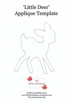Little Deer Applique Template