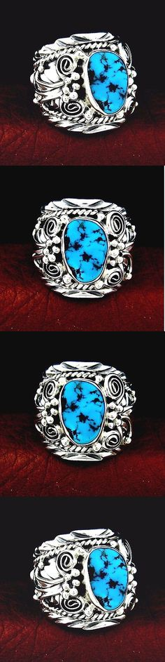 Southwestern 164301: Native American Handmade Sterling Silver Kingman Turquoise Ring Size 10 -- R37 E -> BUY IT NOW ONLY: $99.83 on eBay!