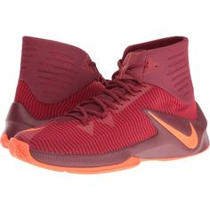 Nike Zoom Clear Out (Team Red/Total Crimson/Gym Red) Men's Basketball... ($61) ❤ liked on Polyvore featuring men's fashion, men's shoes, men's athletic shoes, red, mens shoes, mens breathable shoes, mens mesh shoes, men's low top basketball shoes and red mens shoes