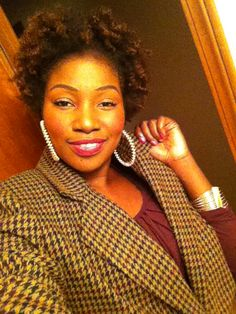 My Natural Afro and style!! natural hair is fab!!