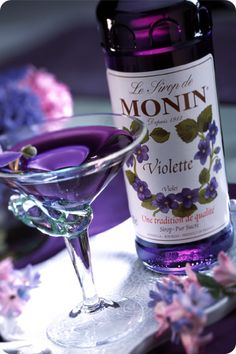 The violet martini. This trumps the lavender martini on many levels...the first of which is alcohol content...
