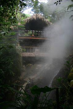 Very inviting hot springs in the Honduras