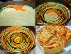 Jolie tarte aux courgettes et carottes / Pretty tart with zucchini and carrots Healthy Cooking, Cooking Recipes, Kids Meals, Easy Meals, Great Recipes, Favorite Recipes, Food Porn, Zucchini, Vegetarian Recipes