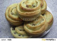 Šneky s pudinkem od Hrušky recept - TopRecepty.cz Bagel, Bread, Food, Meal, Brot, Eten, Breads, Meals, Bakeries