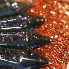 Detail of Mawi London Glitter Bug Clutch, Copper