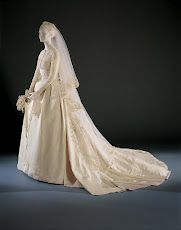 """On this day in Philadelphia's own Grace Kelly became Her Serene Highness Princess Grace of Monaco. The movie star's dress, created by MGM designer Helen Rose, has since defined bridal elegance.""""Grace Kelly's Wedding Dress and Accessories,"""". Princess Grace Wedding Dress, Grace Kelly Wedding, Princess Diana Dresses, Royal Wedding Gowns, Princess Grace Kelly, Royal Weddings, Modest Wedding Dresses, Rose Wedding, Designer Wedding Dresses"""