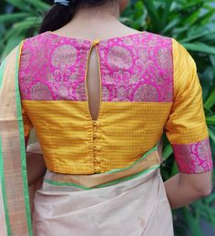 Saree Envy Sale - Buy Sarees Online - Designer Sare Lehnga Designs Salwar Suit Silk Blouse Cotton Fancy Bridal Party Fashion Jewelry in 2019 Indian Blouse Designs, Saree Blouse Neck Designs, Stylish Blouse Design, Fancy Blouse Designs, Bridal Blouse Designs, High Neck Saree Blouse, Blouse Patterns, Sari Design, Designer Kurtis