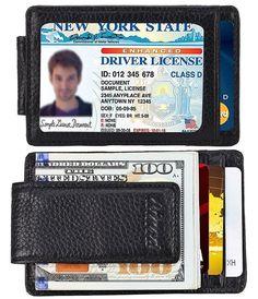 money clip wallet designer bppt  Men's Anti-Theft Leather Wallet & Money Clip Black $839 amazon