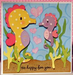 New Baby Card Seahorse by lnorris21 on Etsy, $4.25