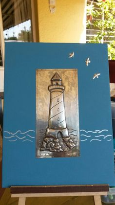 If only I could draw! Pewter Art, Pewter Metal, Metal Embossing, Metal Stamping, Diy Resin Art, Diy Art, Sea Crafts, Paper Crafts, Aluminum Foil Crafts