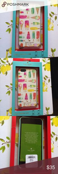 Kate Spade NEW popsicle iPhone 6 cover Kate Spade NEW rare popsicle print iPhone 6 case. Never taken out of its packaging! kate spade Accessories Phone Cases