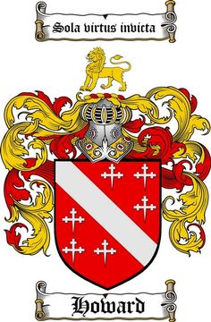 HOWARD FAMILY CREST - COAT OF ARMS gifts at www.4crests.com
