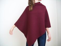 WOMEN PONCHOS / 100% Merino Wool Cape/ Pure by FloraMerHandmade