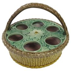 Check out this item at One Kings Lane! Antique Majolica Egg Holder