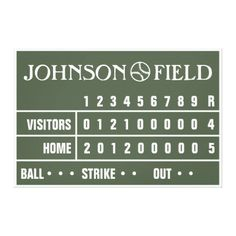 """60"""" x 40"""" Baseball Scoreboard Wrapped Canvas Gallery Wrapped Canvas"""