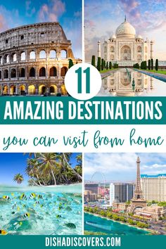 Whether your trip got canceled or you're looking for staycation ideas, here are eleven amazing destinations around the world that you can travel to without leaving home. | Staycation Ideas | Staycation Ideas Family | Staycation Ideas for Couples | Staycation Ideas for Couples at Home | Staycation Ideas at Home | Best Staycation Ideas | Fun Staycation Ideas | #TravelFromHome #TravelTips #StaycationIdeas Top Travel Destinations, Travel Themes, Travel Deals, Amazing Destinations, Travel Guides, Travel Advice, Virtual Travel, International Travel Tips, Solo Travel