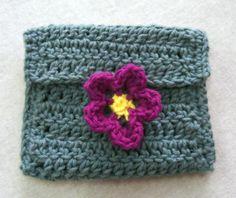 Flower Coin Purse - add a crocheted strap for a cute kid's purse.