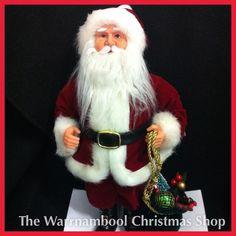Beautiful standing Santa only $39.95 #warrnamboolchristmasshop #santa #christmas #traditional#shop3280 by warrnambool_christmas_shop