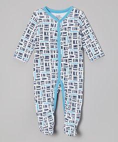 Love this White & Blue 'Calvin Klein' Footie - Infant by Calvin Klein Underwear on #zulily! #zulilyfinds