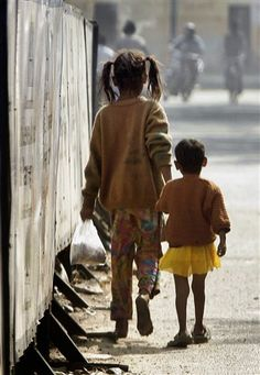 Homeless Children -- God give us grace to help the weak and broken ones among us.